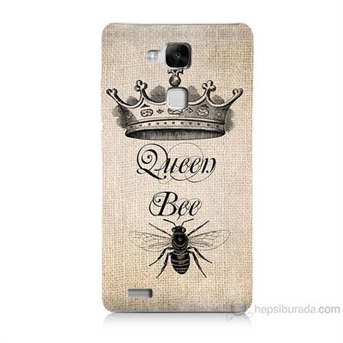 Teknomeg Huawei Ascend Mate 7 Queen Bee Baskılı Silikon Kılıf