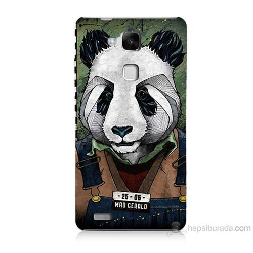 Teknomeg Huawei Ascend Mate 7 İşçi Panda Baskılı Silikon Kılıf