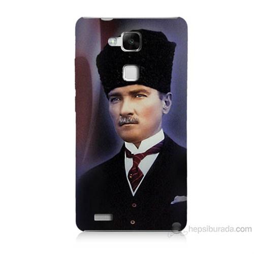 Teknomeg Huawei Ascend Mate 7 Mustafa Kemal Atatürk Baskılı Silikon Kılıf