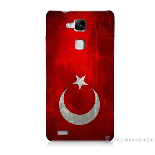Teknomeg Huawei Ascend Mate 7 Türkiye Bayrağı Baskılı Silikon Kılıf
