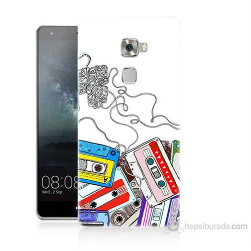 Teknomeg Huawei Ascend Mate S Kasetler Baskılı Silikon Kılıf