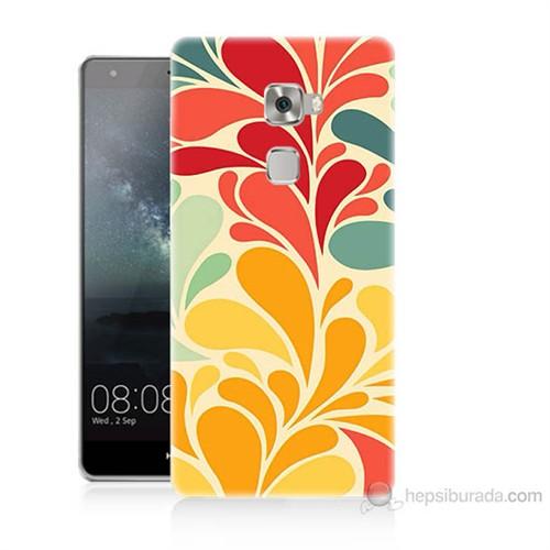 Teknomeg Huawei Ascend Mate S Çiçekler Baskılı Silikon Kılıf