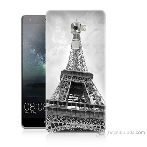 Teknomeg Huawei Ascend Mate S Eyfel Kulesi Baskılı Silikon Kılıf