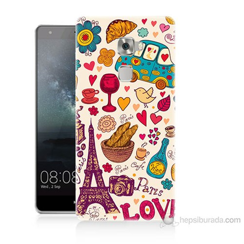 Teknomeg Huawei Ascend Mate S Paris Love Baskılı Silikon Kılıf
