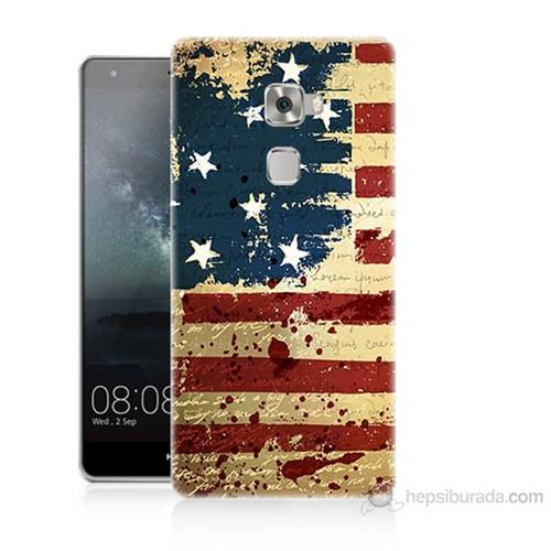 Teknomeg Huawei Ascend Mate S Amerika Bayrağı Baskılı Silikon Kılıf