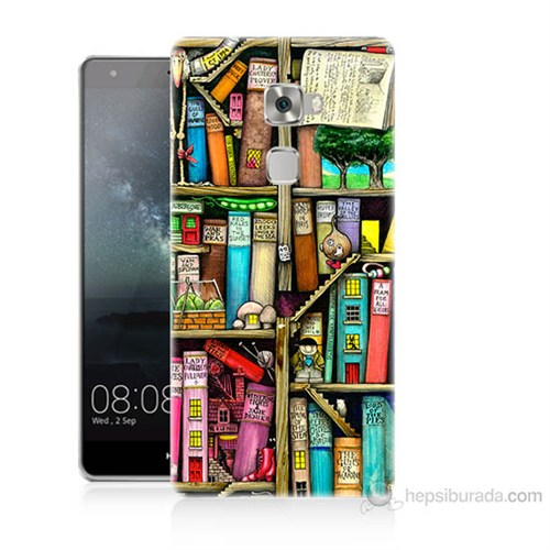 Teknomeg Huawei Ascend Mate S Kitaplık Baskılı Silikon Kılıf