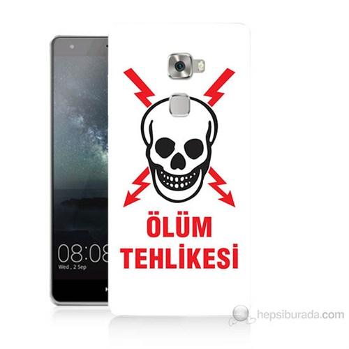 Teknomeg Huawei Ascend Mate S Ölüm Tehlikesi Baskılı Silikon Kılıf