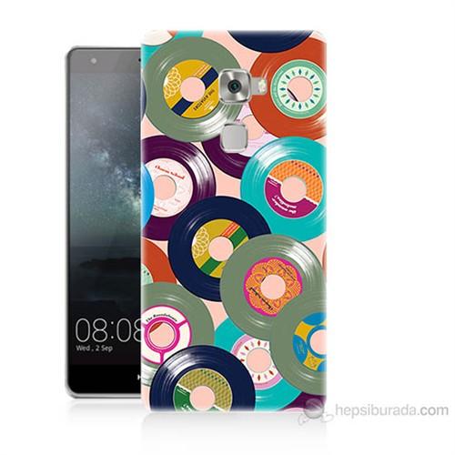 Teknomeg Huawei Ascend Mate S Renkli Plaklar Baskılı Silikon Kılıf