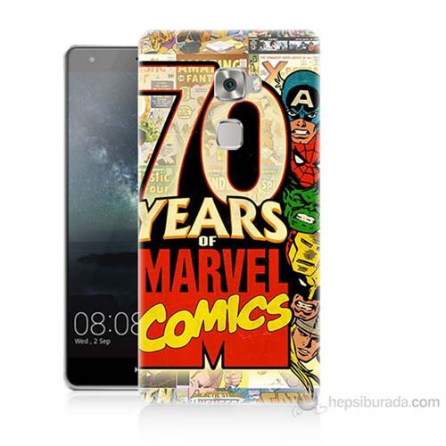 Teknomeg Huawei Ascend Mate S Marvel Karakterleri Baskılı Silikon Kılıf