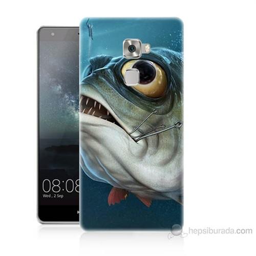 Teknomeg Huawei Ascend Mate S Balık Baskılı Silikon Kılıf