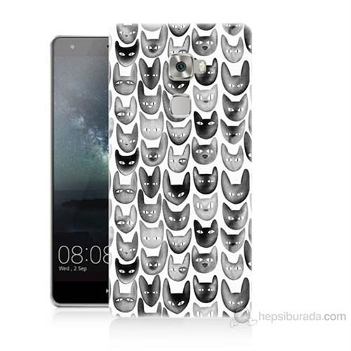Teknomeg Huawei Ascend Mate S Kediler Baskılı Silikon Kılıf