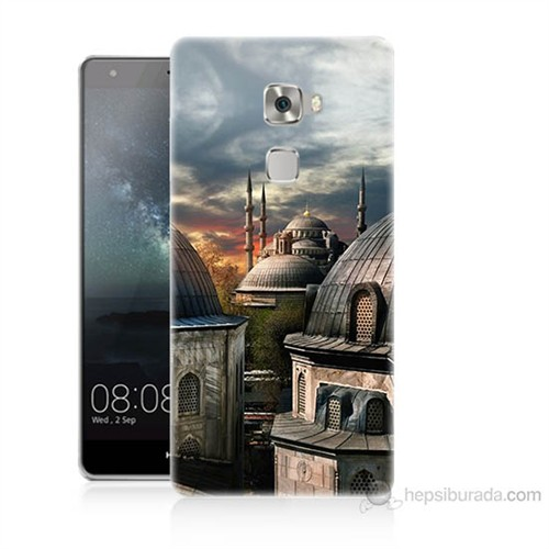Teknomeg Huawei Ascend Mate S Cami Baskılı Silikon Kılıf