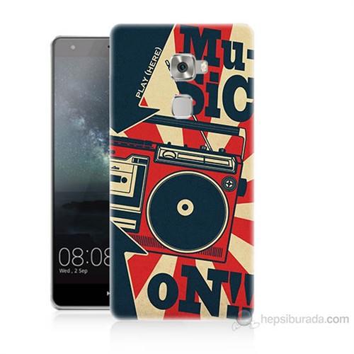 Teknomeg Huawei Ascend Mate S Müzik Baskılı Silikon Kılıf