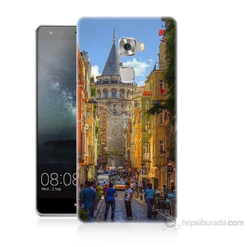 Teknomeg Huawei Ascend Mate S Galata Kulesi Baskılı Silikon Kılıf