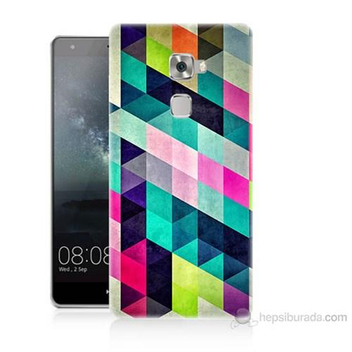 Teknomeg Huawei Ascend Mate S Mozaikler Baskılı Silikon Kılıf