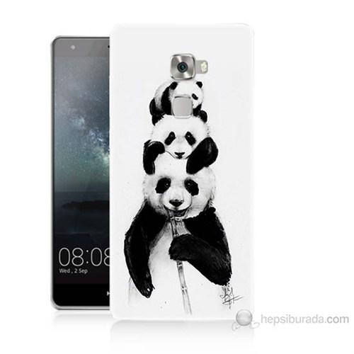 Teknomeg Huawei Ascend Mate S Panda Ailesi Baskılı Silikon Kılıf