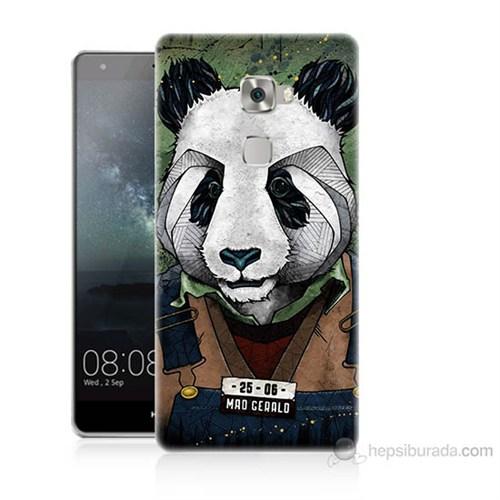 Teknomeg Huawei Ascend Mate S İşçi Panda Baskılı Silikon Kılıf