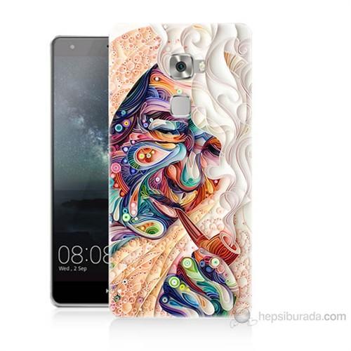 Teknomeg Huawei Ascend Mate S Kağıt Sanatı Baskılı Silikon Kılıf