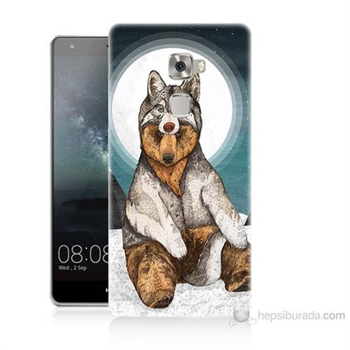 Teknomeg Huawei Ascend Mate S Postlu Ayı Baskılı Silikon Kılıf