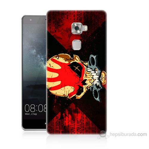 Teknomeg Huawei Ascend Mate S Mıştalı Kurukafa Baskılı Silikon Kılıf
