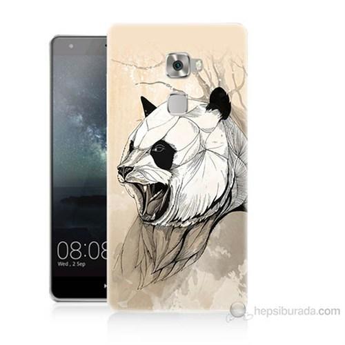 Teknomeg Huawei Ascend Mate S Kavgacı Panda Baskılı Silikon Kılıf