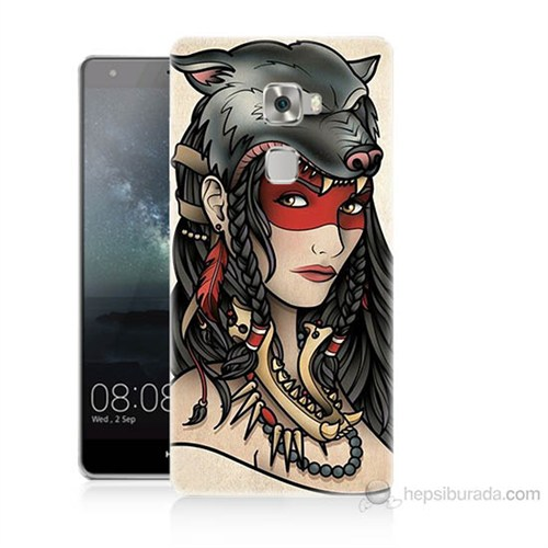 Teknomeg Huawei Ascend Mate S Pocahontas Baskılı Silikon Kılıf