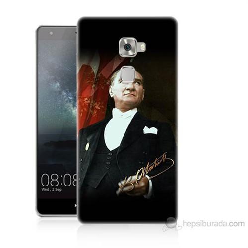 Teknomeg Huawei Ascend Mate S M.K.Atatürk Baskılı Silikon Kılıf