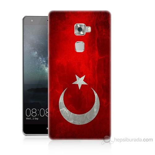 Teknomeg Huawei Ascend Mate S Türkiye Bayrağı Baskılı Silikon Kılıf
