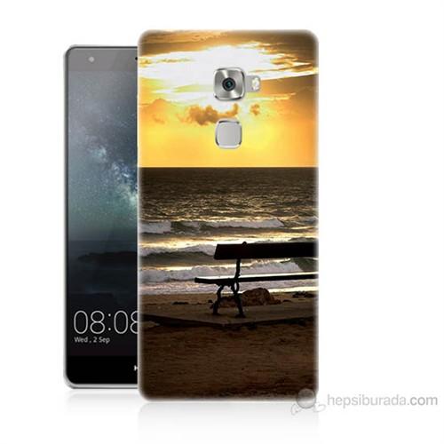 Teknomeg Huawei Ascend Mate S Gün Batımı Baskılı Silikon Kılıf
