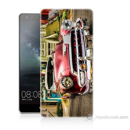Teknomeg Huawei Ascend Mate S Klasik Araba Baskılı Silikon Kılıf
