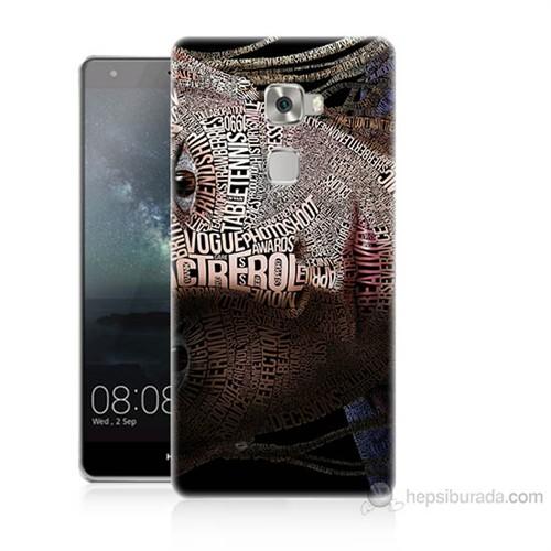 Teknomeg Huawei Ascend Mate S Yazılı Kadın Baskılı Silikon Kılıf