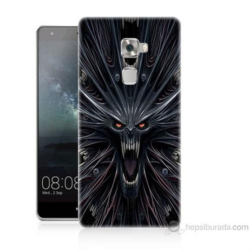 Teknomeg Huawei Ascend Mate S Korku Canavarı Baskılı Silikon Kılıf