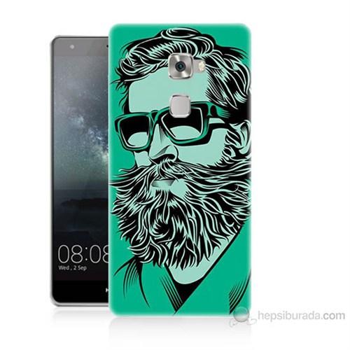 Teknomeg Huawei Ascend Mate S Beard Art Baskılı Silikon Kılıf