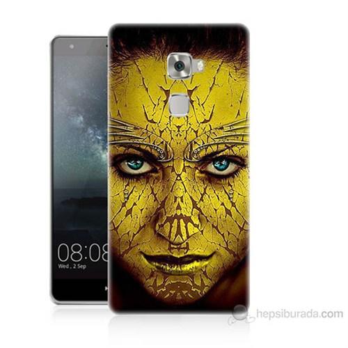 Teknomeg Huawei Ascend Mate S Sarı Kız Baskılı Silikon Kılıf