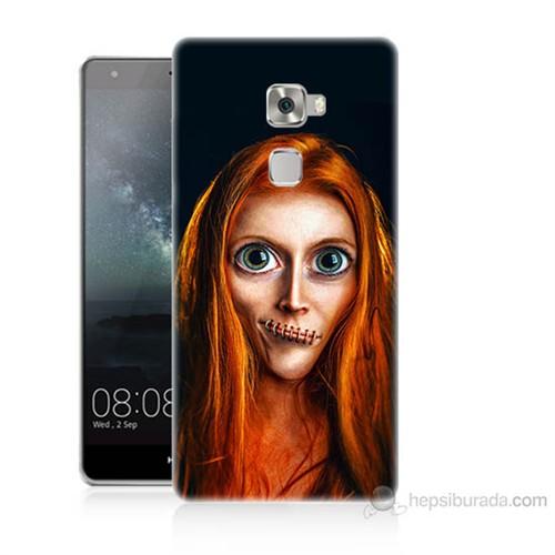 Teknomeg Huawei Ascend Mate S Zombie Kız Baskılı Silikon Kılıf