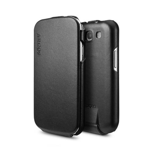 Spigen Samsung Galaxy S3 i9300 Argos Serisi Deri Kılıf - Siyah