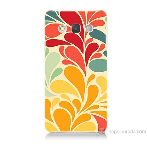 Teknomeg Samsung Galaxy A3 Çiçekler Baskılı Silikon Kılıf