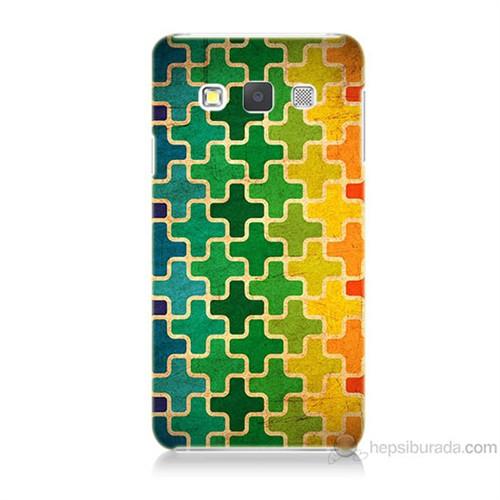 Teknomeg Samsung Galaxy A3 Renkli Artı Baskılı Silikon Kılıf