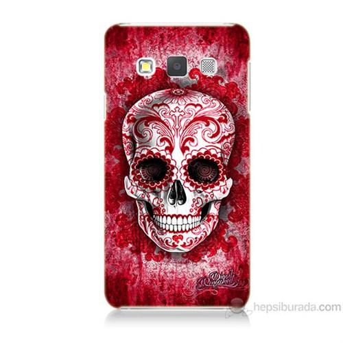 Teknomeg Samsung Galaxy A3 Kırmızı İskelet Baskılı Silikon Kılıf