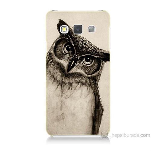 Teknomeg Samsung Galaxy A3 Düşünen Baykuş Baskılı Silikon Kılıf