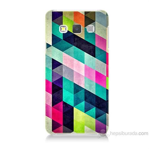 Teknomeg Samsung Galaxy A3 Mozaikler Baskılı Silikon Kılıf