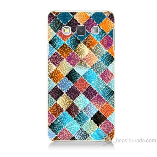 Teknomeg Samsung Galaxy A3 Kırkyama Baskılı Silikon Kılıf