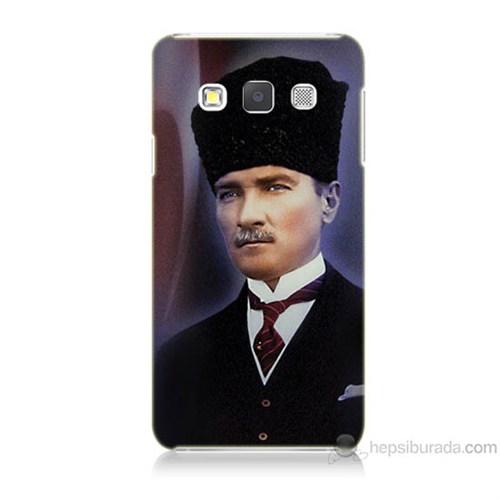 Teknomeg Samsung Galaxy A3 Mustafa Kemal Atatürk Baskılı Silikon Kılıf