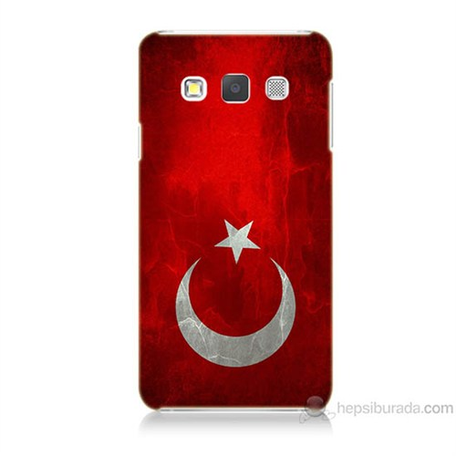 Teknomeg Samsung Galaxy A3 Türkiye Bayrağı Baskılı Silikon Kılıf