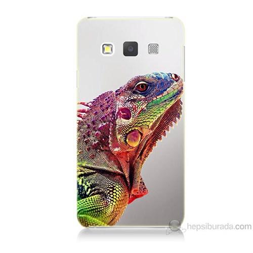 Teknomeg Samsung Galaxy A3 İguana Baskılı Silikon Kılıf
