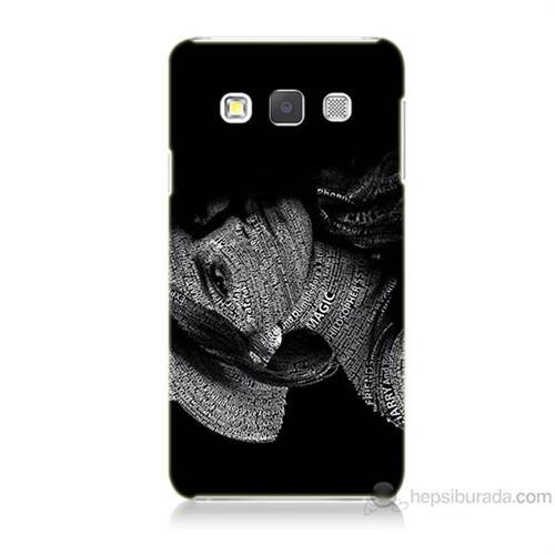 Teknomeg Samsung Galaxy A3 Yazılı Kadın Baskılı Silikon Kılıf