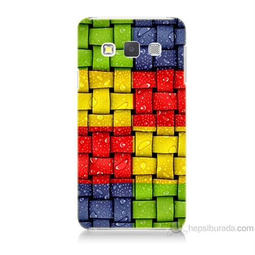 Teknomeg Samsung Galaxy A5 Renkli Sargılar Baskılı Silikon Kılıf