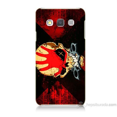 Teknomeg Samsung Galaxy A5 Mıştalı Kurukafa Baskılı Silikon Kılıf
