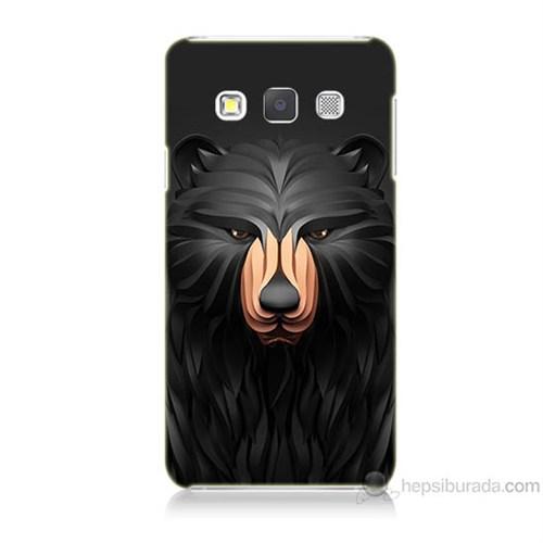 Teknomeg Samsung Galaxy A5 Boz Ayı Baskılı Silikon Kılıf
