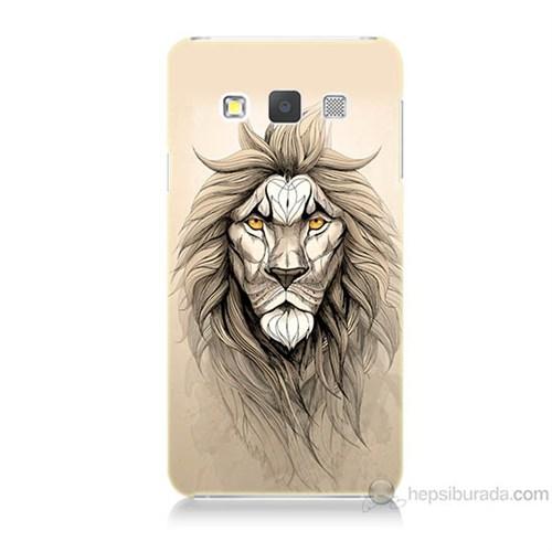 Teknomeg Samsung Galaxy A5 Beyaz Aslan Baskılı Silikon Kılıf